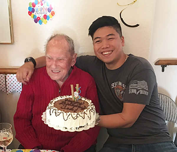 A birthday celebration at Eden Adult Care Facility, senior assisted living community homes in Gilbert and Mesa Arizona