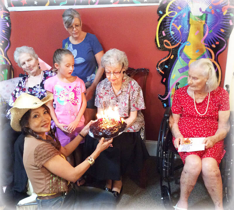 Eden Adult Care Facility resident birthday party
