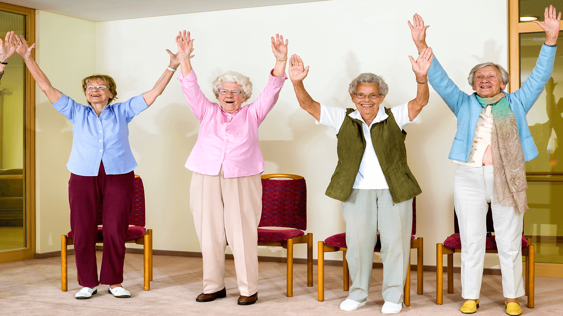 Senior mobility classes at Eden Adult Care Facility, serving the Phoenix East Valley with senior assisted living community homes in Mesa and Gilbert Arizona