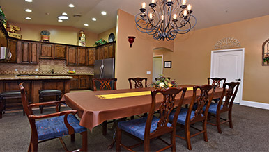 Eden Adult Care Facility Community dining room